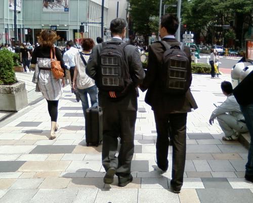 表参道で見つけた4人組
