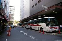 新宿のバスターミナル