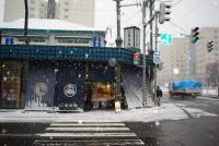 3月なのに雪の札幌