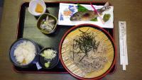 新蕎麦とイワナの定食