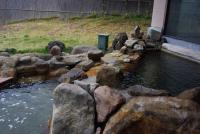 露天風呂は湯舟が二つある